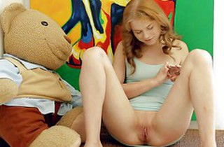 Angelic minor cutie Ksenija A plays with will not hear of mere communistic  : lay bare corn-cob Pornsharing.com