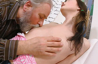 Jenya idolizes the attention she gets from this muddy old man. He completes up fucking this youthful babe.
